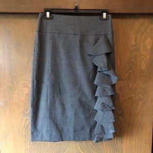 Express - High waisted Pencil Skirt - Grey